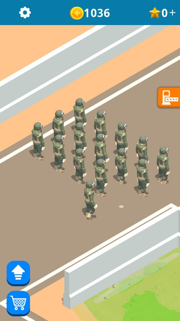 Earn coins from a pass out parade