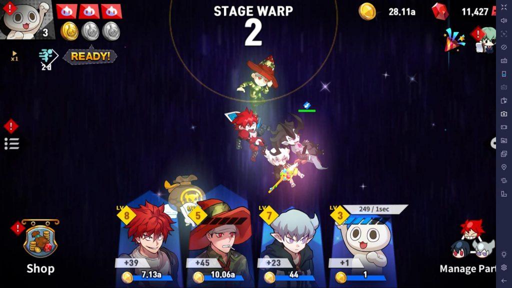 Choco BibI Stage Warp skill