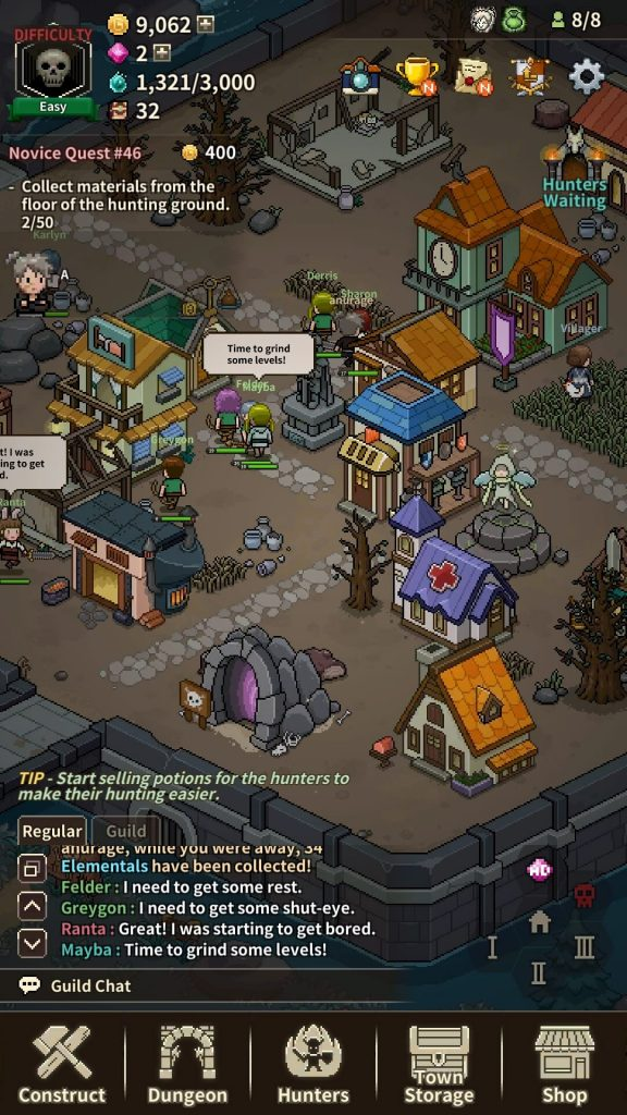 Managing the ghost town in Evil Hunter Tycoon