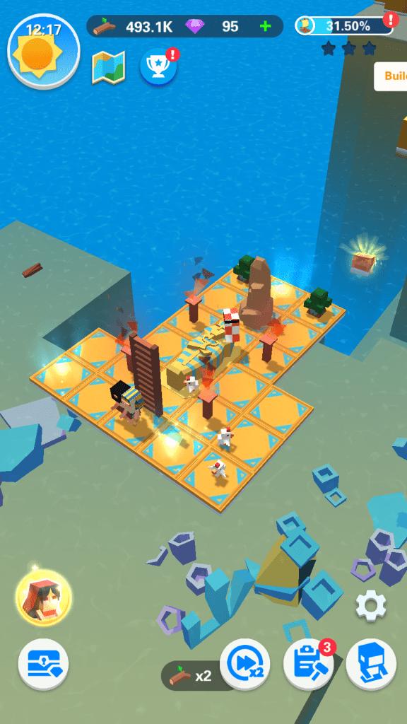 Constructing Egypt-themed ship.