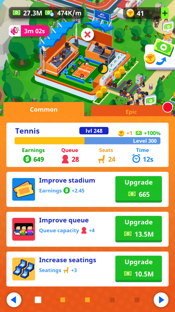 Stadium Upgrades