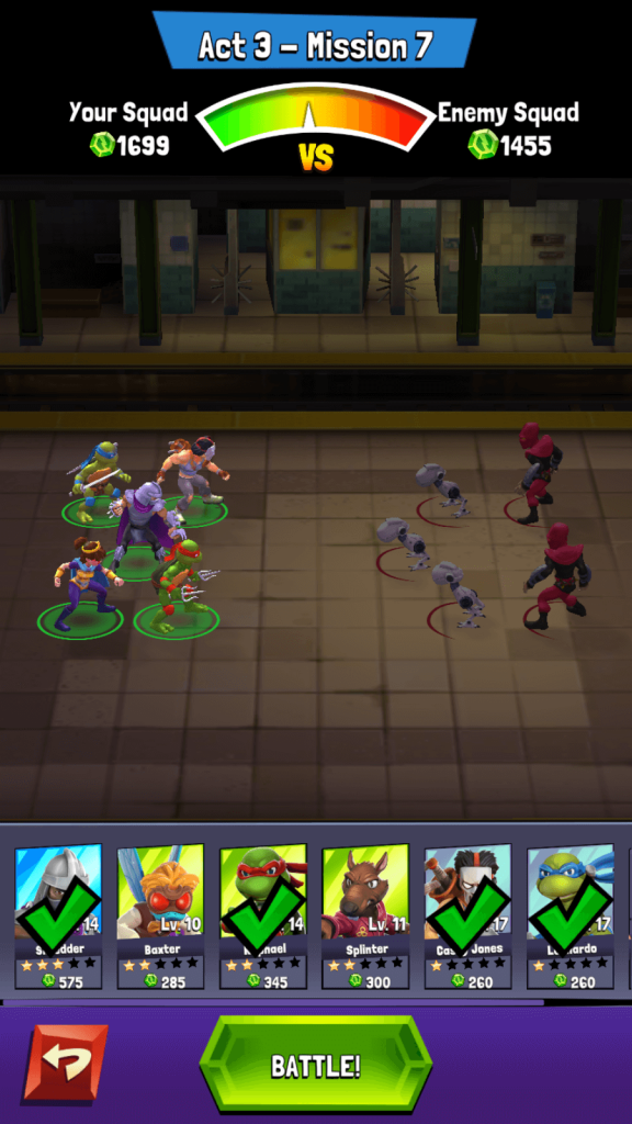 TMNT Mutant Madness Team Formation