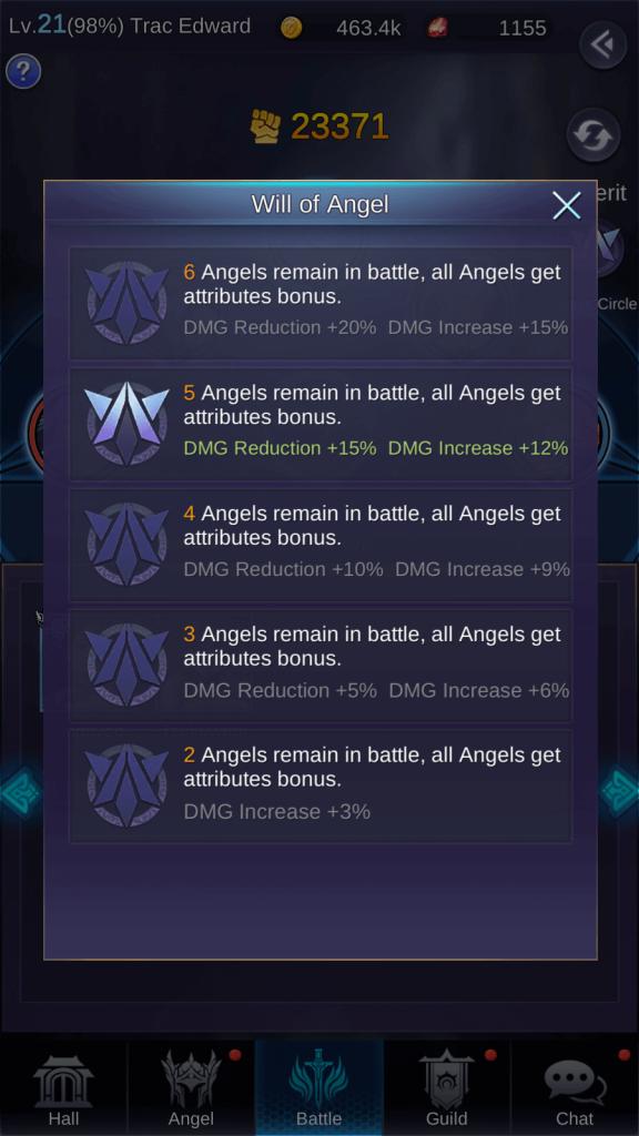 Will of Angel under Magic Circle