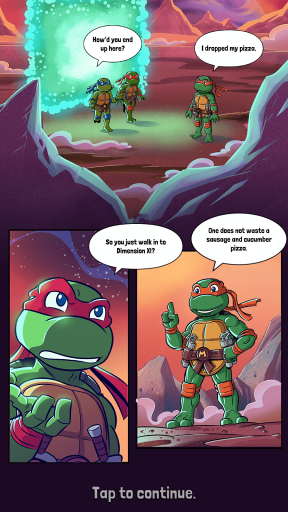 Comic book style cut scenes