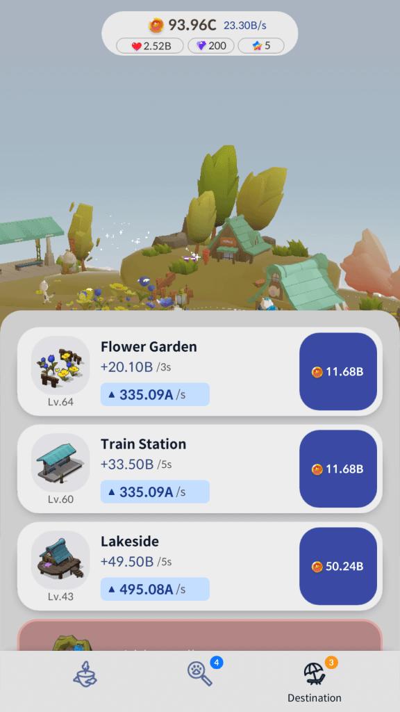 Level up destinations