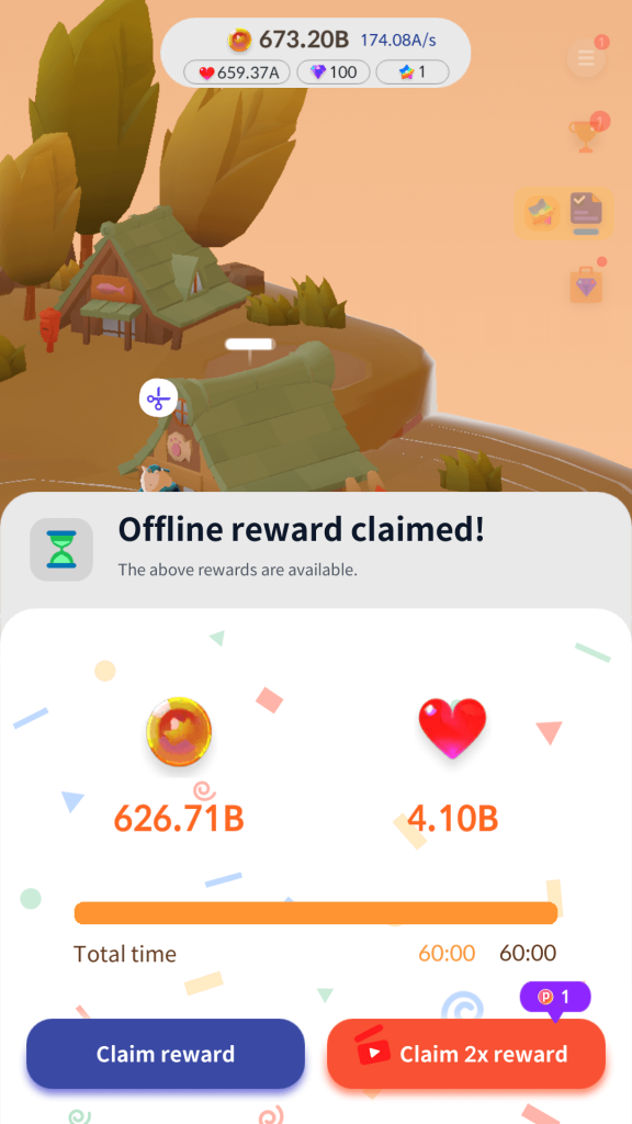 Offline Rewards