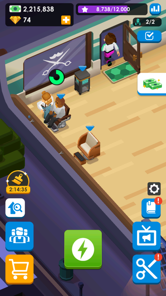 Press the magnifying glass icon on the left side to know which furniture items can be upgraded.